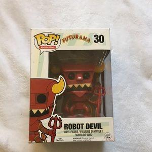 Pop Funko, Futurama Robot Devil, never open.